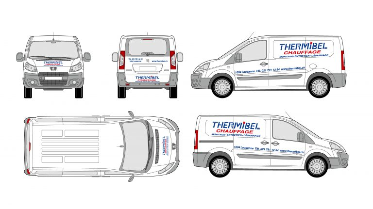 PPS LAUSANNE Thermibel MARQUAGE VEHICULE