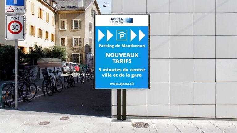 PPS LAUSANNE parking montbenon AFFICHE IMPRESSION
